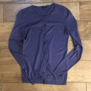 Purple Ann Taylor cardigan size small